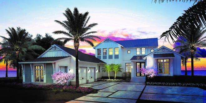 Rendering of  The Silver King model at Hill Tide Estates in Boca Grande.