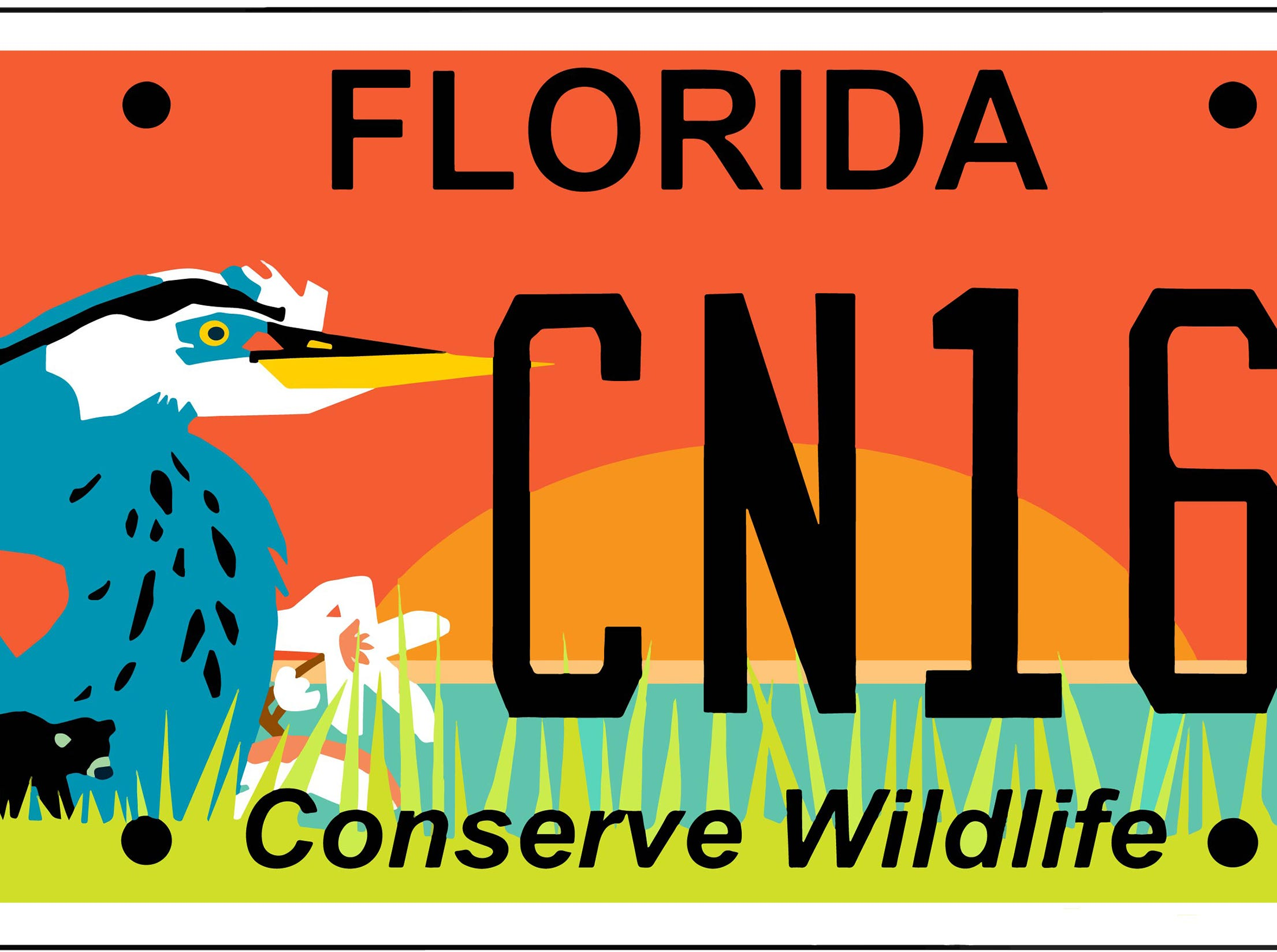 License plate design by Lauren Taylor Coney.