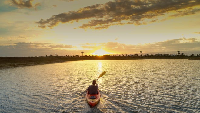 Residents can enjoy kayaking on Eagle Lake in Naples Reserve.