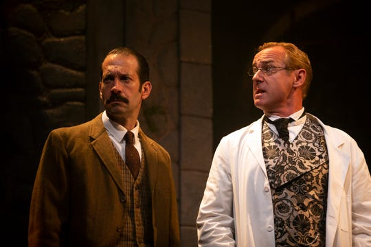 """Jeffrey Binder and David Whalen act in a scene from """"Holmes and Watson."""""""