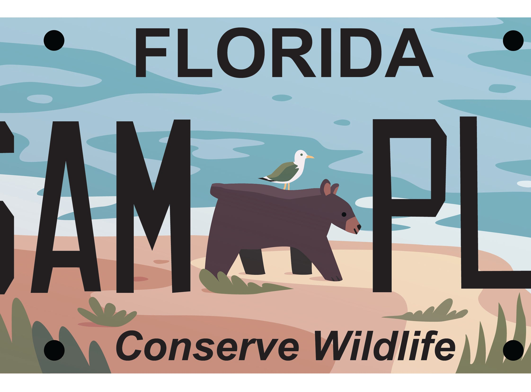License plate design by Rachel Bivens.