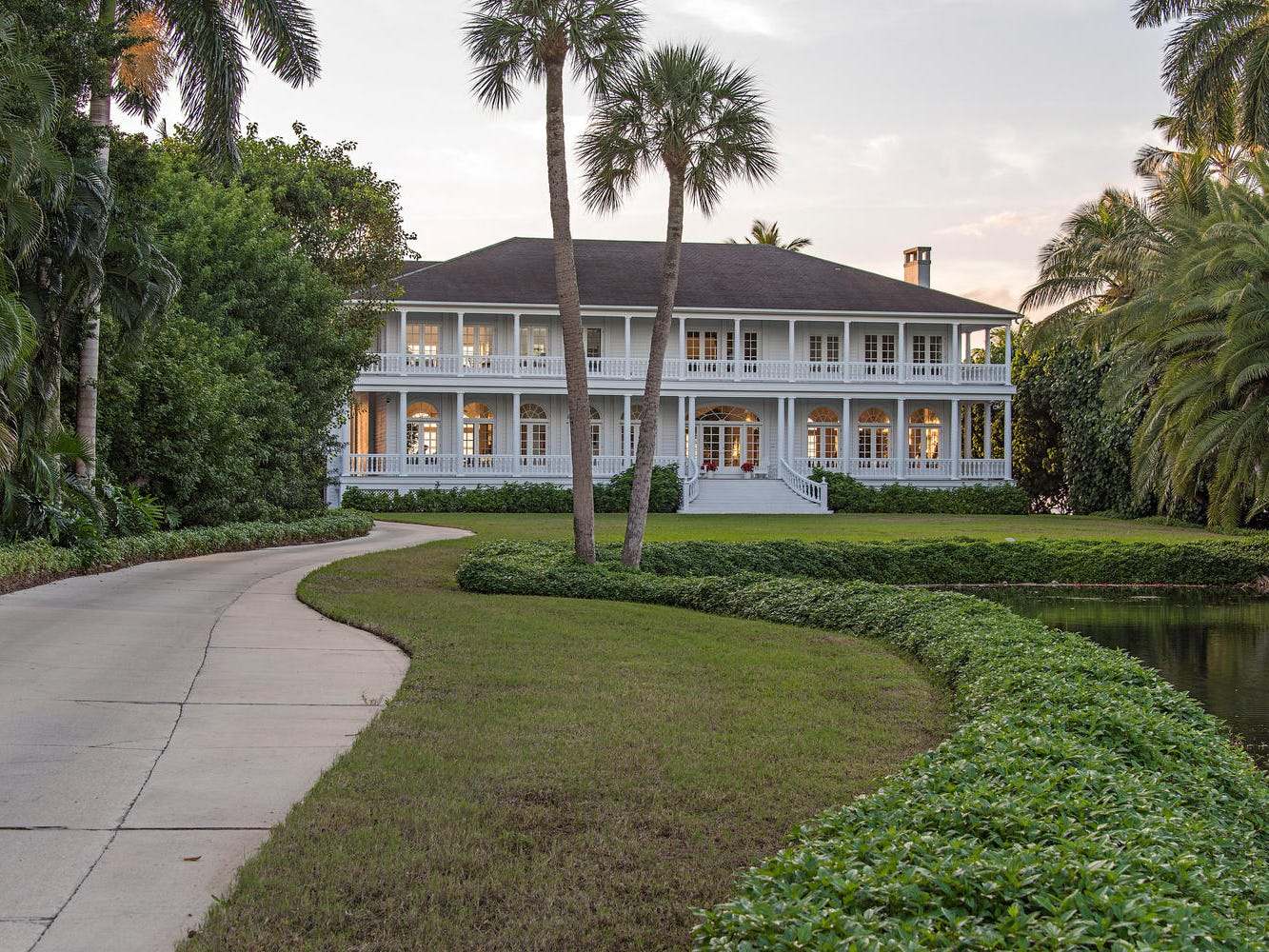 This Southern-Colonial mansion — a 2.53-acre beachfront property at 2440 Gordon Drive that sold in January for $22.5 million — was demolished on March 11, 2019.
