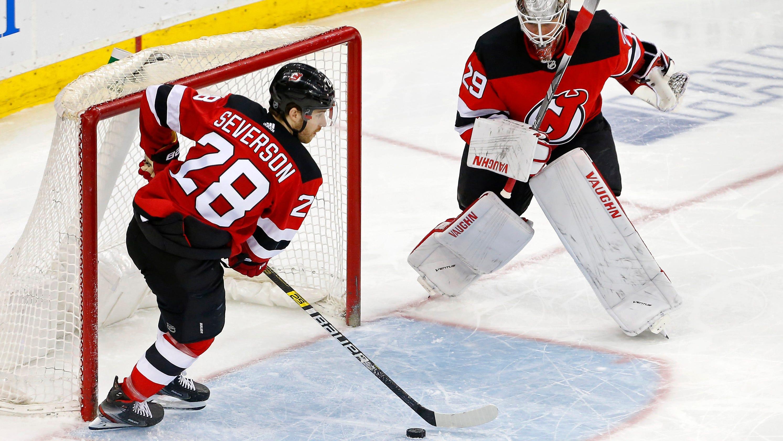 NJ Devils  Mackenzie Blackwood learning how to play through adversity c3e62a182