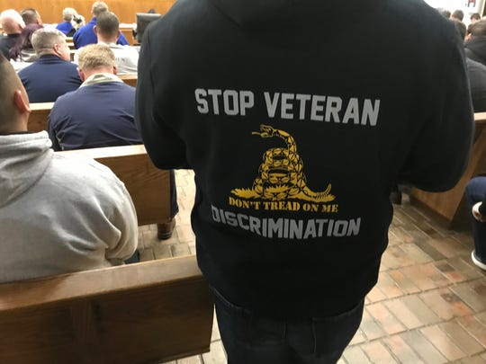 Sweat shirt for sale Tuesday night  at Clifton Council meeting.