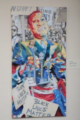A portrait of Paul Robeson, the activist by Esteban Del Valle, part of the Paul Robeson Legacy Project.