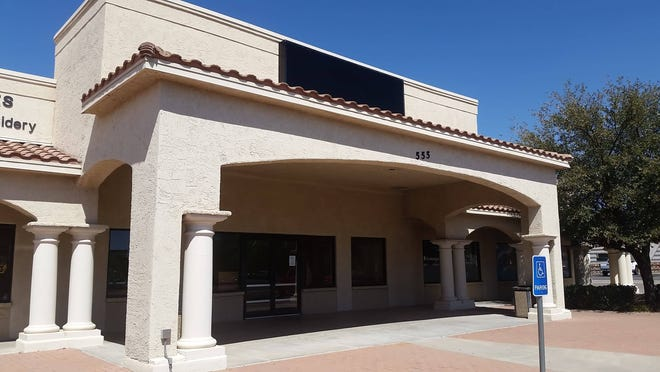 A Subway deli at 555 Utah Ave., Suite C, in Las Cruces closed permanently on March 13, 2019. The building's sign has been removed.