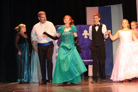 Heather Bash as the wicked stepmother in the production of Cinderella.