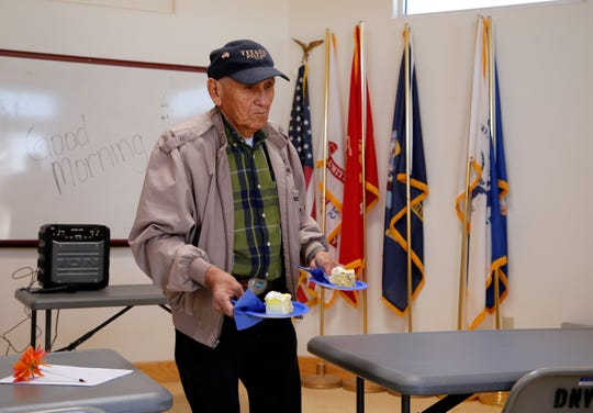 Paul George, commander for the Tsé Daa K'aan Chapter Veterans Organization, arranged the event to honor women who served in the military.