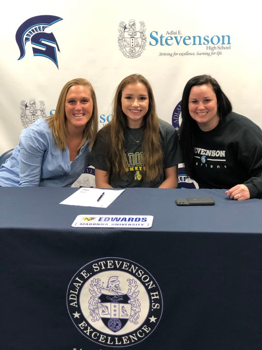 Stevenson's Emily Edwards will play basketball at Madonna next year.