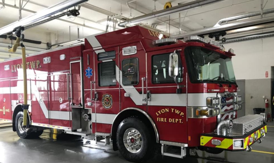 Lyon Township has a new fire engine.