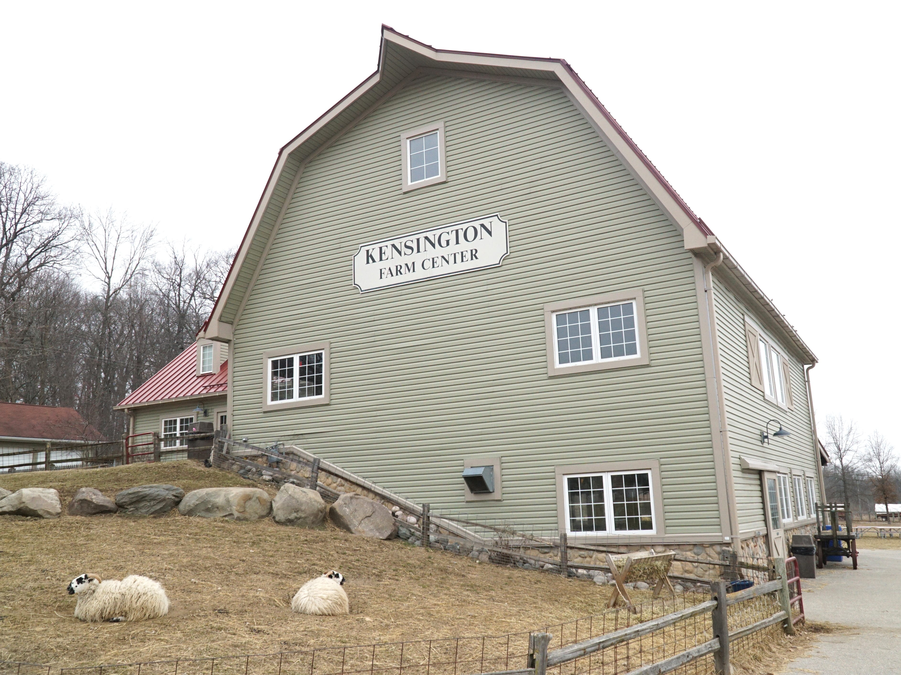 The Kensington Farm Center features a large barn in which many livestock animals are housed in cooler weather.