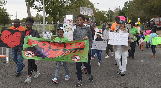 Anti-Bullying march held in Opelousas on Saturday, March 16.