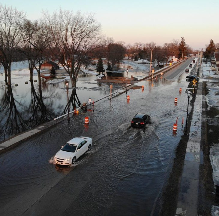 Fox River continues to flood parts of Omro and State 21; detour set up