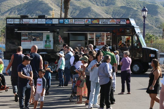 Scenes from the Food Truck Mash-Up at Town Square Park in Cathedral City on Saturday, March 16, 2019.