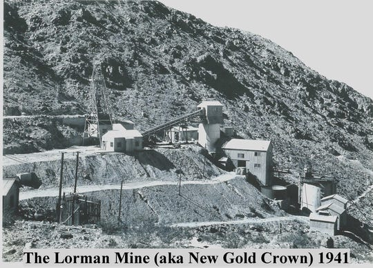 Historic image shows The Lorman Mines  at 10297 Gold Crown Road, Wonder Valley