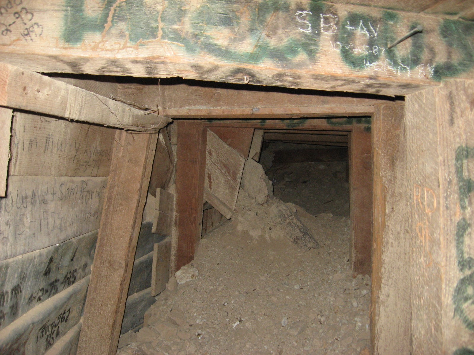 The entrance to one of the abandoned mines at 10297 Gold Crown Road, Wonder Valley