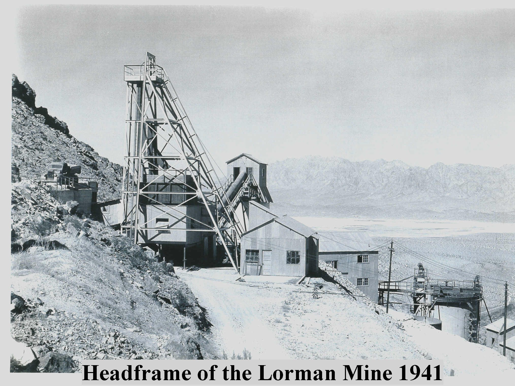 Historic image shows one of the mines at 10297 Gold Crown Road, Wonder Valley