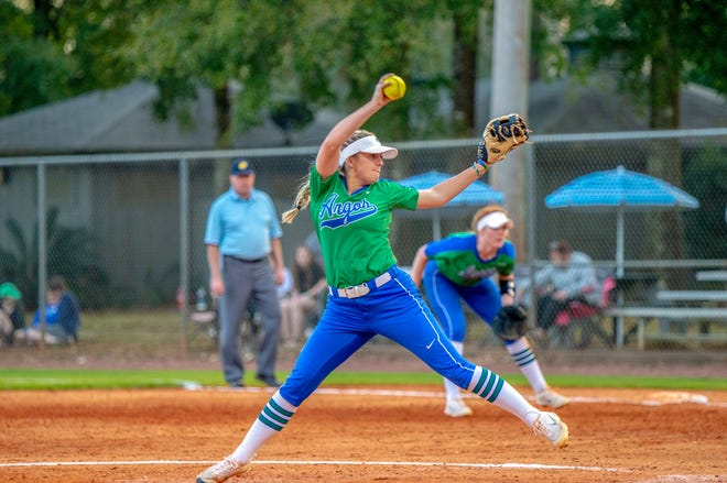 University of West Florida pitcher Kelsey Sweatt earned Gulf South Conference Pitcher of the Week for her performances against Montevallo and Valdosta State in March 2019.