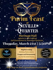 The Purim Feast at Seville Quarter happens Thursday at 5:30 p.m.