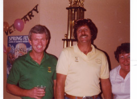 Business partners Frank Armstrong (left) and Dave Werner opened the original Dirty Drummer in 1975.
