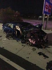 Wrong-way driver vehicle involved in crash at SR-101 at Shea.