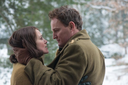 "Rachael (Keira Knightley) and Lewis (Jason Clarke) are married in ""The Aftermath."""