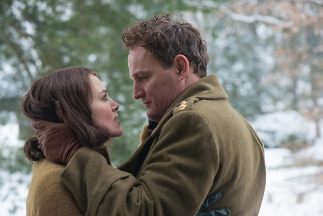 """Rachael (Keira Knightley) and Lewis (Jason Clarke) are married in """"The Aftermath."""""""
