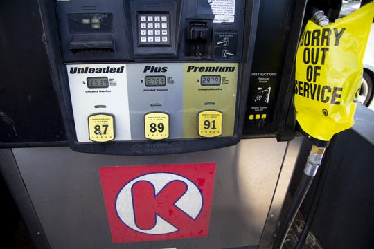 The Circle K on University Drive and Lindsay Road in Mesa was out of gas on March 20, 2019. Circle K said issues with its pipeline and supply source are causes for the shortage of fuel.