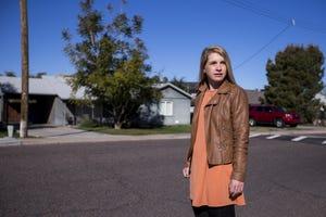 Joanna Sagar poses for a portrait in a neighborhood near her office on Feb. 20, 2019, in Phoenix.