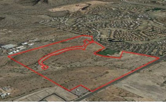 The land at Thomas and Recker roads that Mesa has set for auction on March 21, 2019.