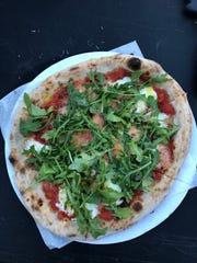 The arugula pizza from Myke's Pizza.