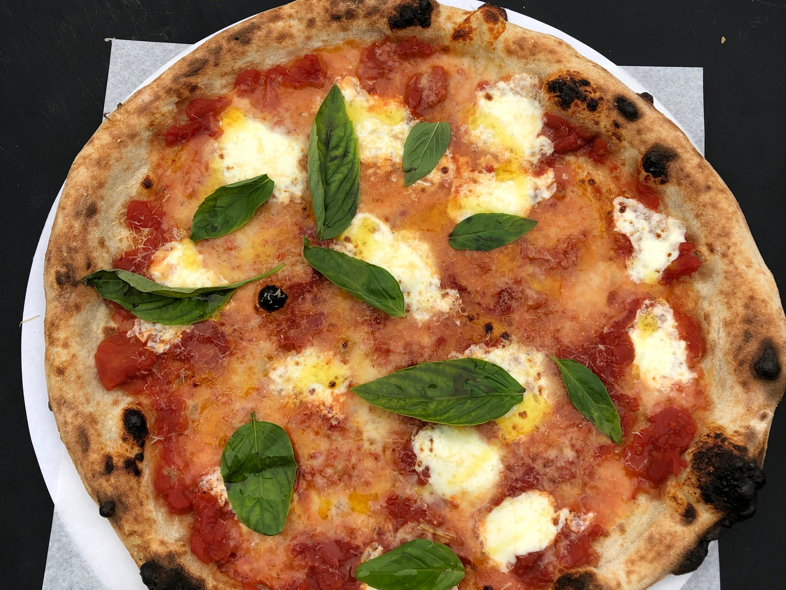 The margherita pizza from Myke's Pizza.