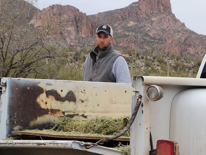 Jordan Selchow manages Quarter Circle U Ranch in the Superstition Mountains.