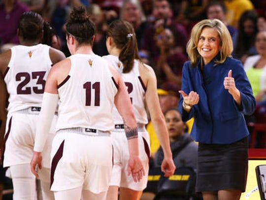 Charli Turner Thorne is completing her 25th season as a head coach, all but three of those with ASU women's basketball.