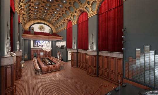 A rendering of the band room in the proposed music venue club (Photo courtesy of Matt and Sean Landis).