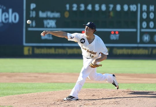 Mitch Atkins was the York Revolution's Pitcher of the Year in 2018. He will return to the team in 2019.