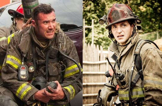 York City firefighters Zachary Anthony, left, and Ivan Flanscha. EOW March 21, 2018.Photos courtesy of Brian Bastinelli