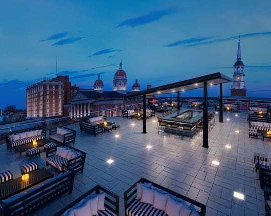 A rendering of a rooftop bar at a proposed nightclub in downtown York (Photo courtesy of Matt and Sean Landis).