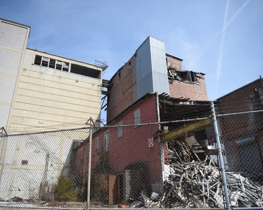 Outside the abandoned Manna Pro grain elevator near the York Fairgrounds. The site is near the intersection of W. Market St. and Richland Avenue.