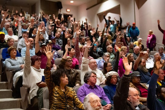 At the conclusion of the listening session, Lt. Gov. John Fetterman asked the crowd to raise their hands if they are for legalization of recreational marijuana. The audience was overwhelmingly for it.