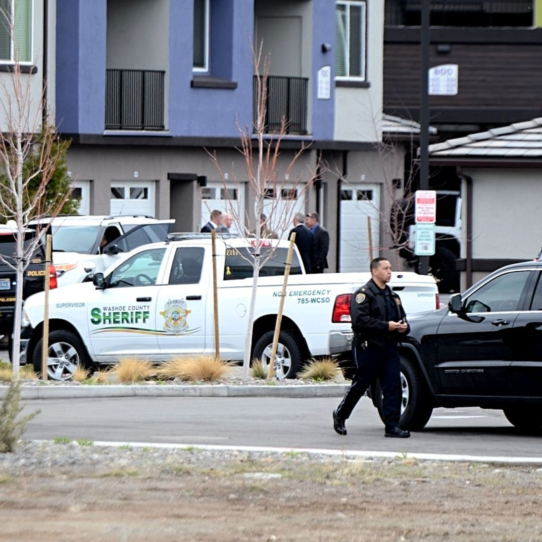 Sparks police say the man shot by Reno officer beat him on the head with a wood baton