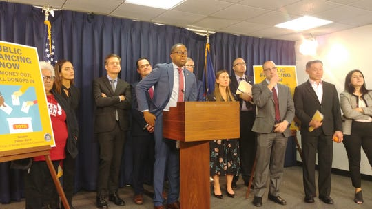 A group of state lawmakers on Wednesday made their case for creating a public finance system in New York.