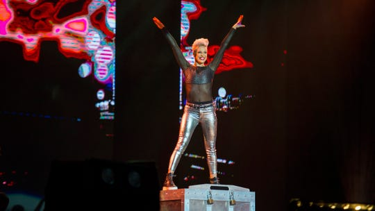 """Magician and escapist artist Sabine performs with """"The Illusionists: Live from Broadway"""" on Tuesday in Redding."""