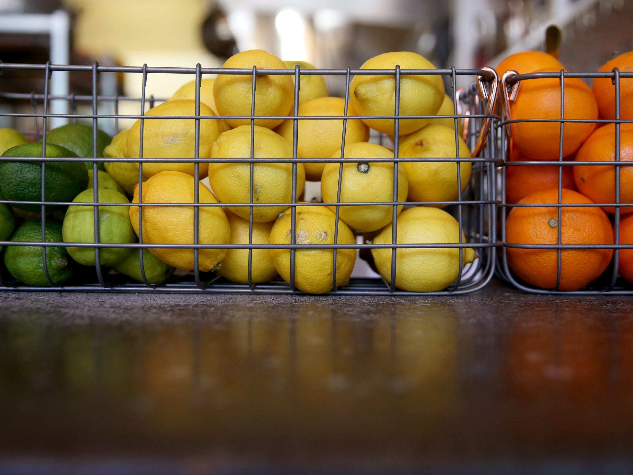 Citrus on the bar at Epilogue Kitchen & Cocktails in Salem on March 20, 2019. The restaurant opens in downtown Salem on Friday.