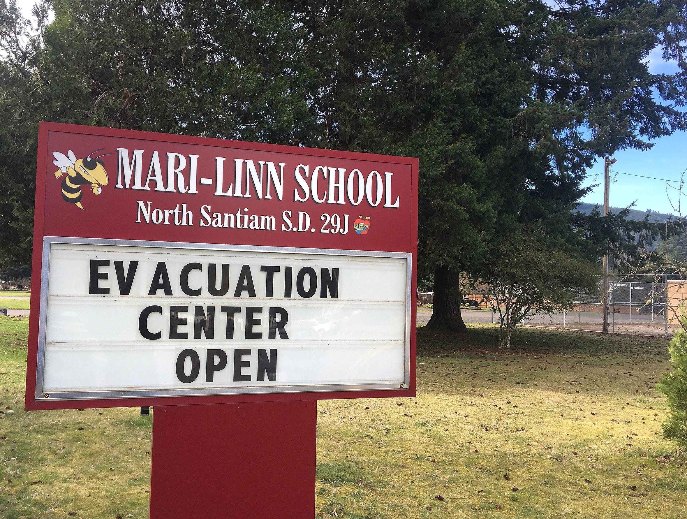 Classes were cancelled Wednesday as the Mari-Linn School becomes an evacuation center after a grass fire that started Tuesday afternoon near Lyons caused evacuations.