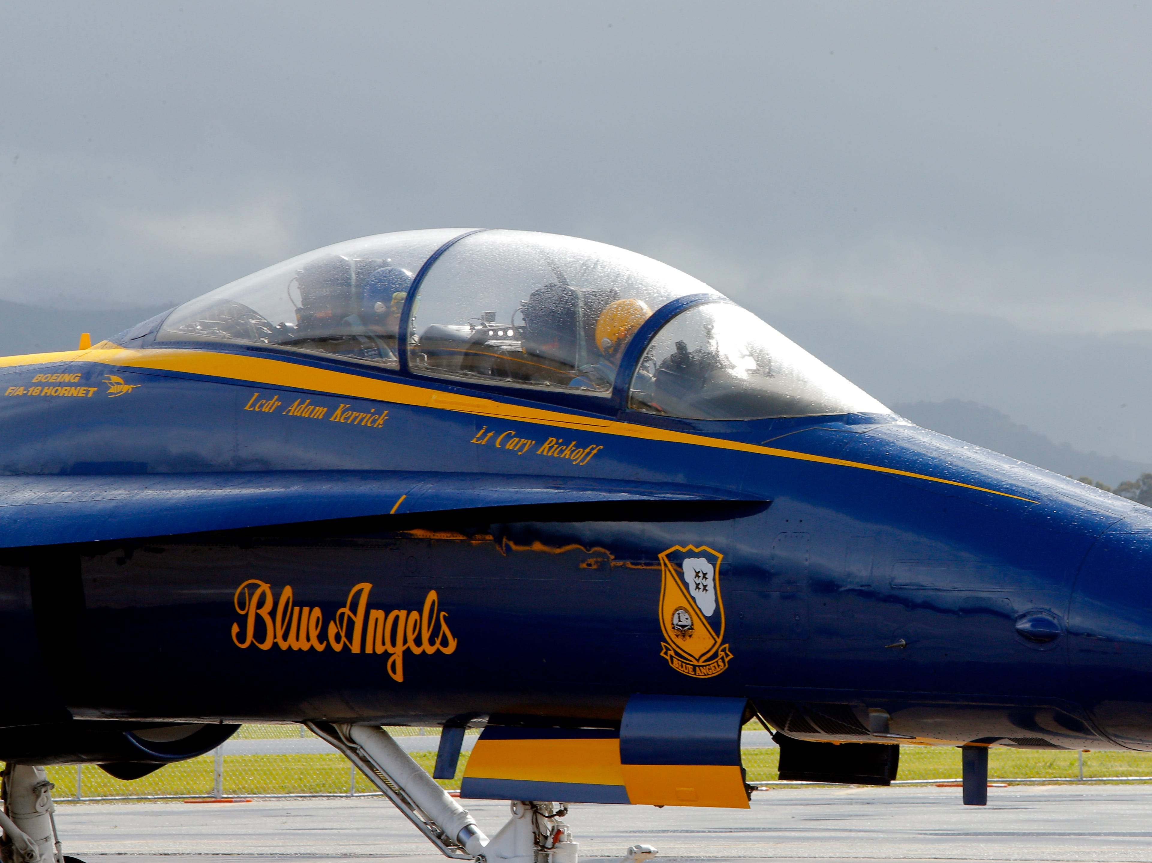 Salinas police officer Daniel Garcia was selected to ride March 20, 2019, with the Blue Angels, who are performing in the California International Airshow Salinas.