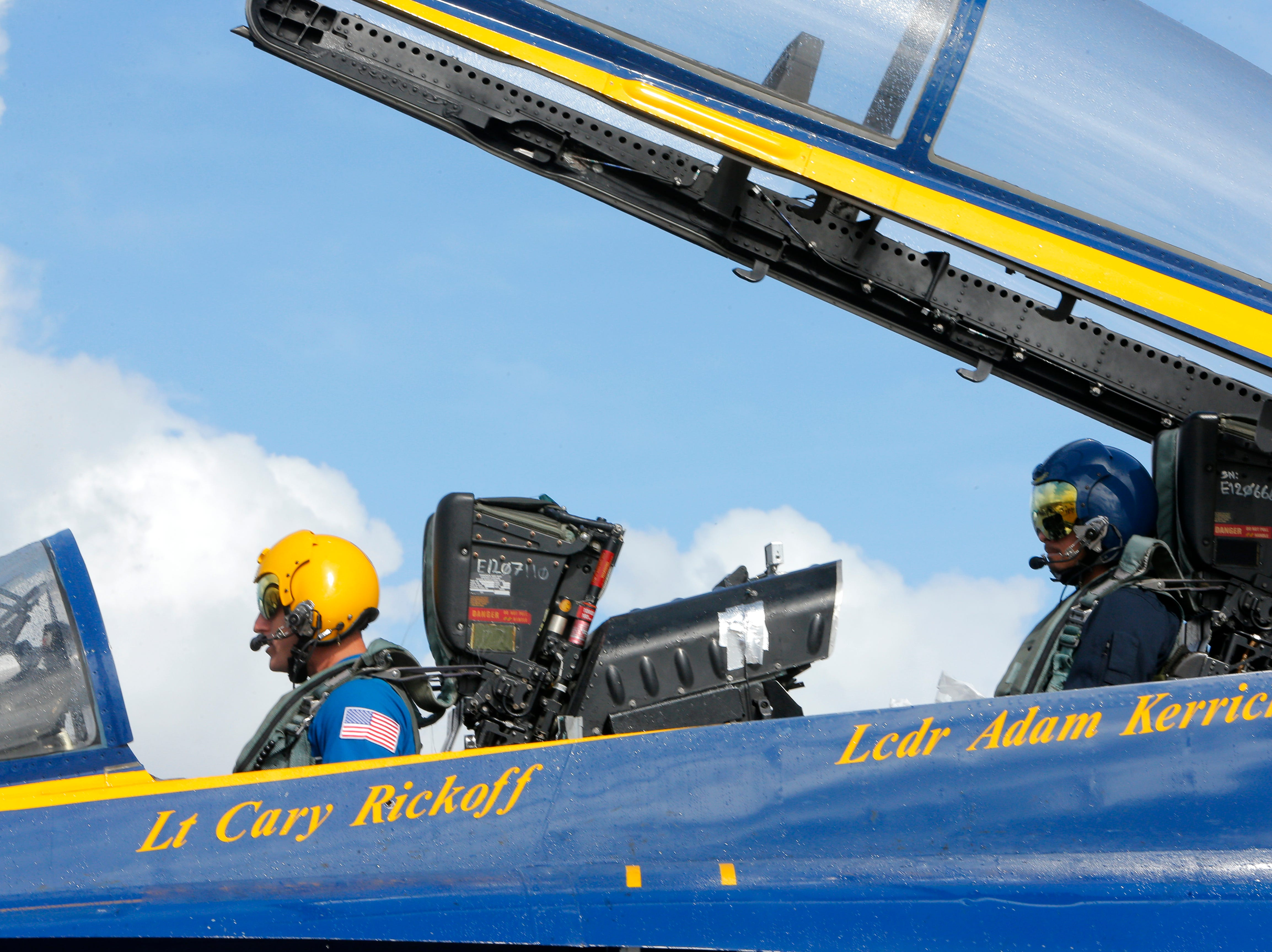 Salinas police officer Daniel Garcia was selected to ride in a flight with the Blue Angels March 20, 2019, in anticipation of the California International Airshow Salinas.