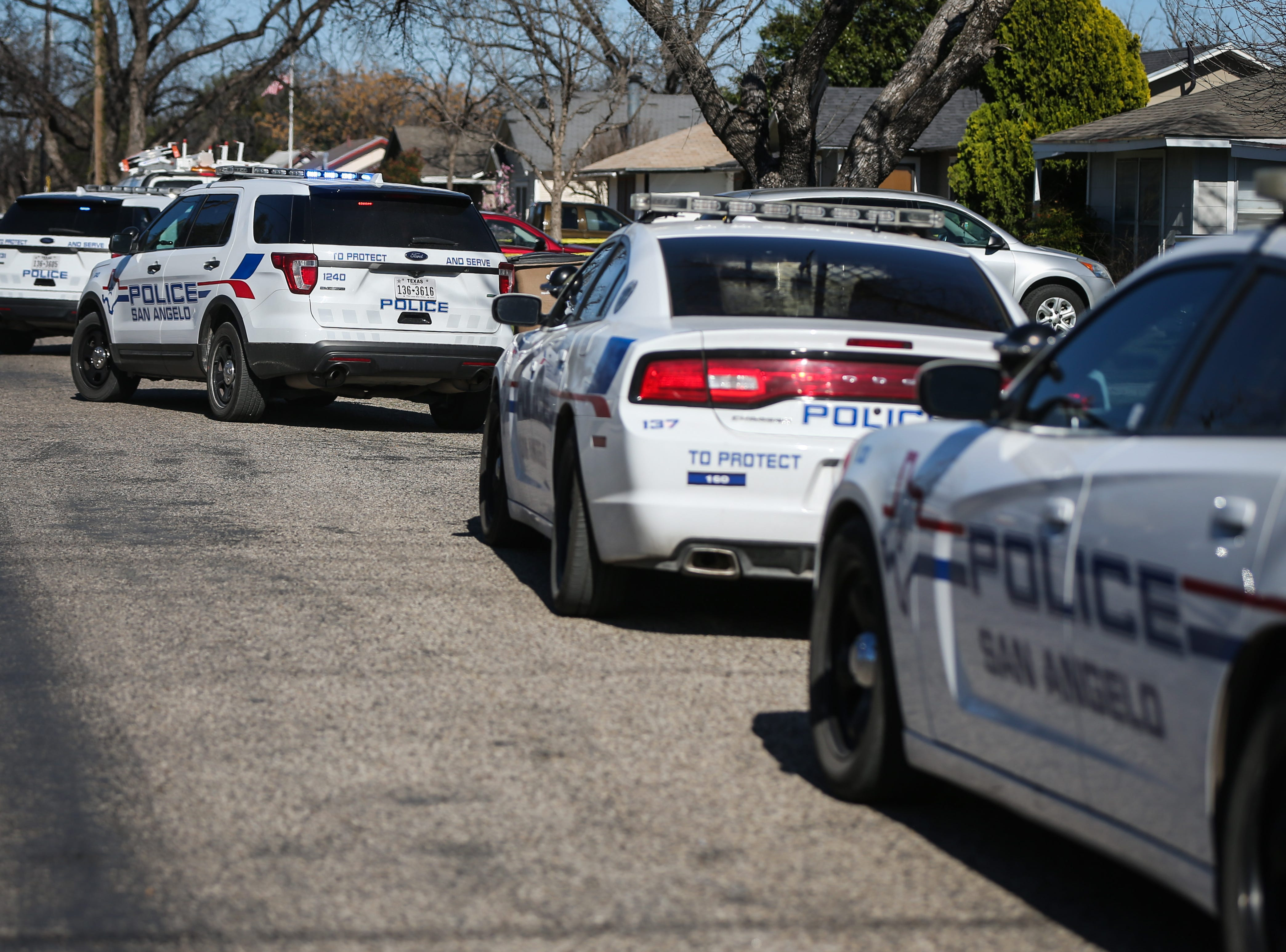 Police investigate a fatal shooting Tuesday, March 19, 2019, at 2000 block of Bailey in San Angelo.