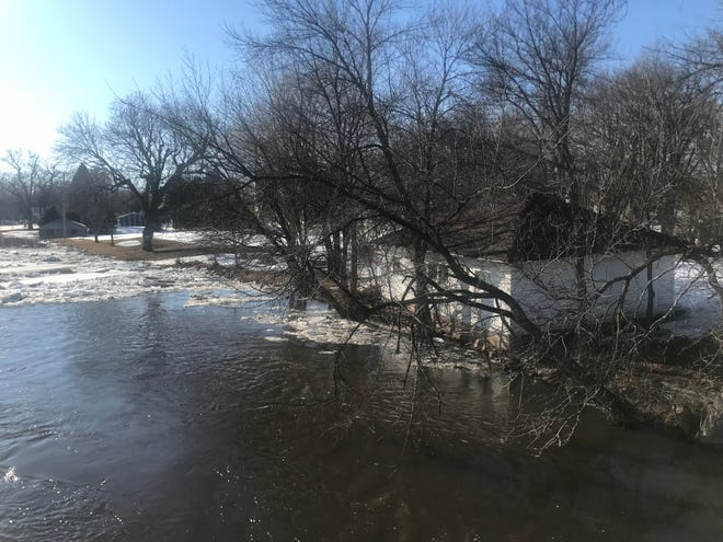 The Big Sioux River busted its banks on March 19. Dell Rapids officials are keeping an eye on the potential for more flooding.