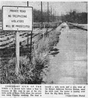 Rising flood waters started to affect eastern South Dakota on April 8, 1969. Multiple roads were flooded over. About one-eighth of Watertown was underwater and all roads into Flandreau were blocked because of flooding.